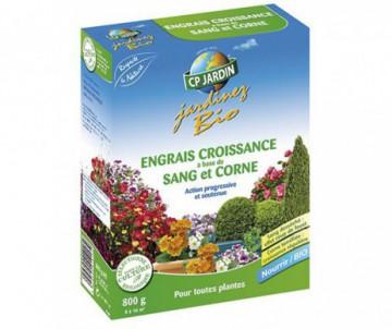 ENGRAIS CROISSANCE SANG+CORNE 800GR - DE 8 A 16M2 - CP JARDIN