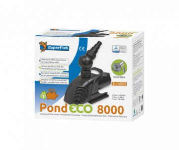 POMPE POND ECO 8000 - 80W POUR CASCADE OU FILTRATION