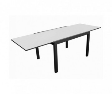 TABLE EXTENSIBLE ELISE GRAPHITE/PERLE 200X300X100CM