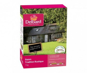 GAZON TRADITIONNEL RUSTIQUE DELBARD 1KG