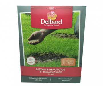 GAZON RENOVATION REGARNISSAGE DELBARD 2.5KG