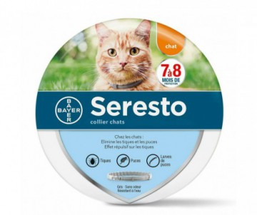 SERESTO COLLIER CHAT ANTIPARASITAIRE BAYER