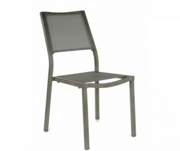 CHAISE EMPILABLE FLORENCE ICE/ARGENT
