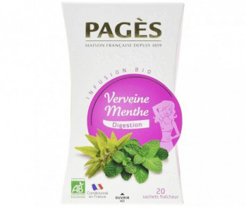 INFUSION VERVEINE MENTHE DIGESTIVE BIO PAGES
