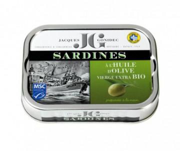 SARDINES A L'HUILE D'OLIVE BIO GONIDEC 115GR