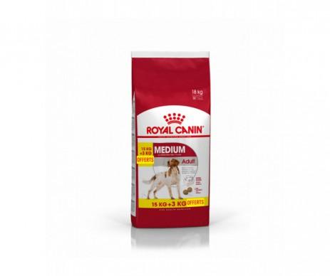 CROQUETTES MEDIUM ADULT 15+3KG ROYAL CANIN