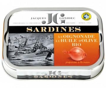 SARDINES HUILE D'OLIVE OIGNONADE BIO