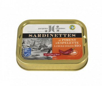 SARDINETTES AU PIMENT D'ESPELETTE BIO GONIDEC 100GR