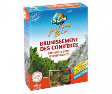 CONTRE LE BRUNISSEMENT DES CONIFERES 800GR -  40L DE PULVERISTATION OU DE 8 A 32M2 PAR EPANDAGE - CP JARDIN