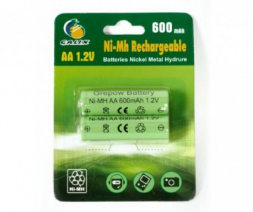 2 BATTERIES RECHARGEABLES AA