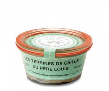 TERRINE DE CAILLES A LA PISTACHE DROME CAILLES 110GR