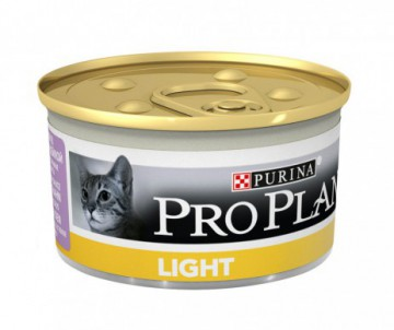 CAT HUMIDE LIGHT BOUCHEES A LA DINDE 85GR PRO PLAN