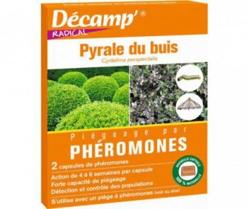 PHEROMONES CONTRE LA PYRALE DU BUIS X 2 CAPSULES - DECAMP