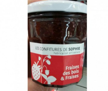 CONFITURE FRAISE DES BOIS FRAISES 250GR