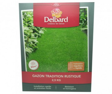 GAZON TRADITION RUSTIQUE DELBARD 2.5KG