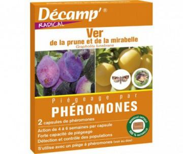 PHEROMONE CONTRE LE VER DE LA PRUNE ET MIRABELLE X 2 CAPSULES - DECAMP