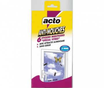 STICKERS ADHESIFS ANTI-MOUCHES X6 - ACTO
