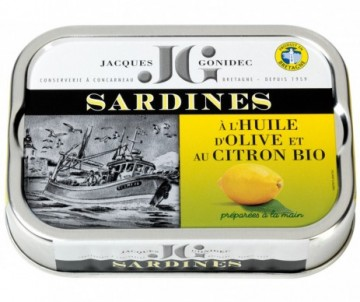 SARDINES HUILE D'OLIVE CITRON BIO