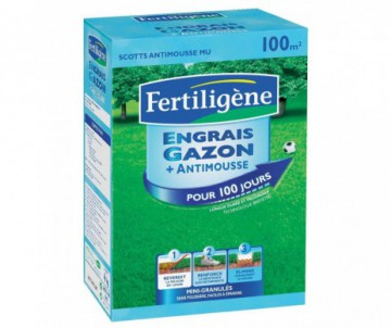 ENGRAIS GAZON ANTI-MOUSSES 4KG - POUR 100M2 - FERTILIGENE
