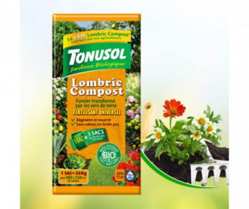FERTILSANT UNIVERSEL LOMBRIC COMPOST 10KG - 100 % NATUREL